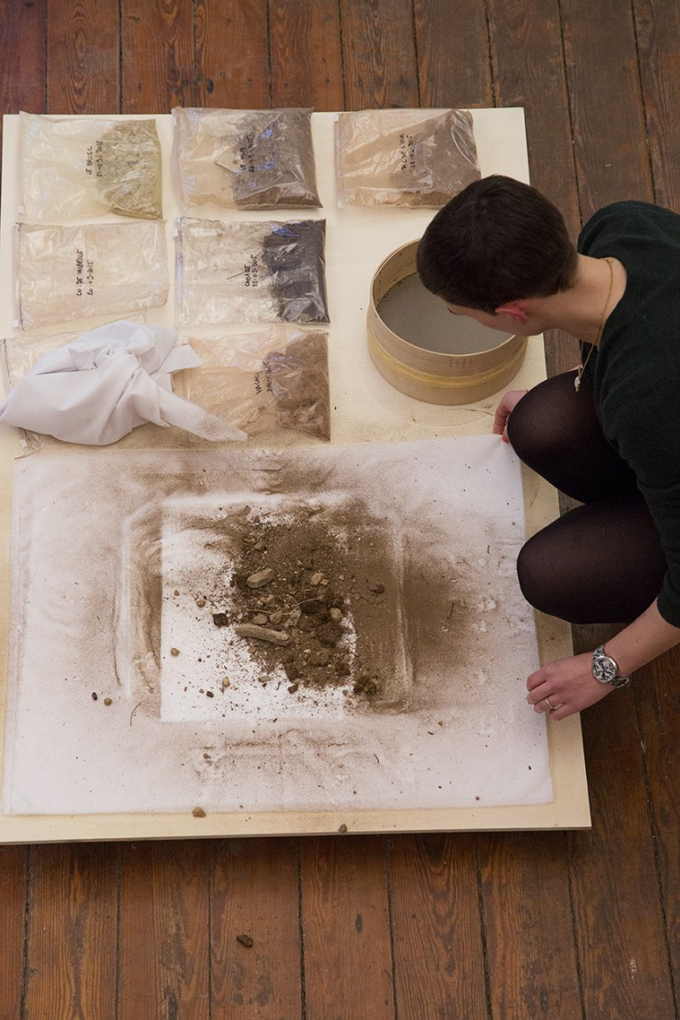 Marie Ilse Bourlanges Looking for the Ursa Major – dust prints