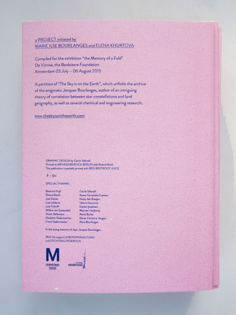 Marie Ilse Bourlanges The memory of a fold – publication